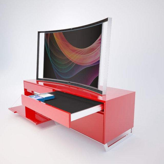 Remarkable Deluxe Red Modern TV Stands Inside Tv Stands Electric Fireplace Tv Stand Clearance Ideas Gallery (Image 36 of 50)