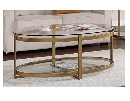 Remarkable Deluxe Retro Glitz Glass Coffee Tables For Amazon Retro Glitz Contemporary Glass Metal Coffee Table (Photo 1 of 50)