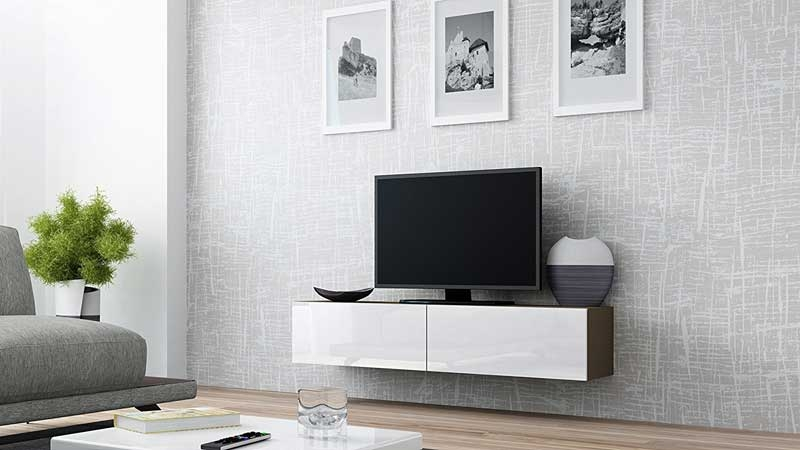 Remarkable Deluxe Scandinavian Design TV Cabinets Throughout Modern Floating Tv Units Vurni (View 43 of 50)