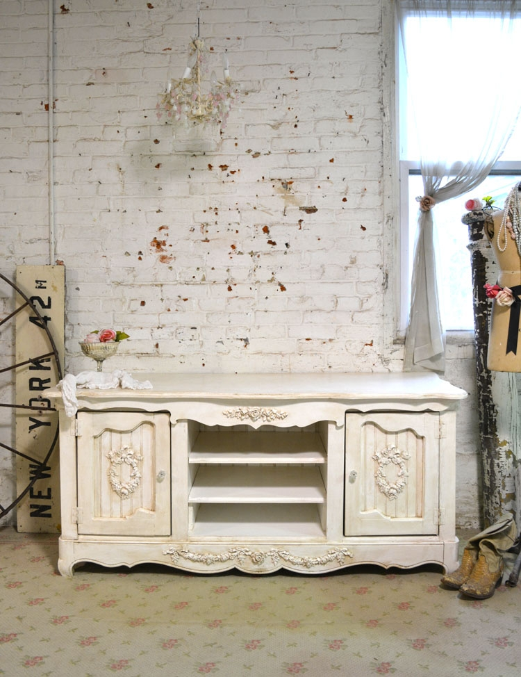 Remarkable Deluxe Shabby Chic TV Cabinets Intended For Shab Chic Console Media Cabinet (View 12 of 50)