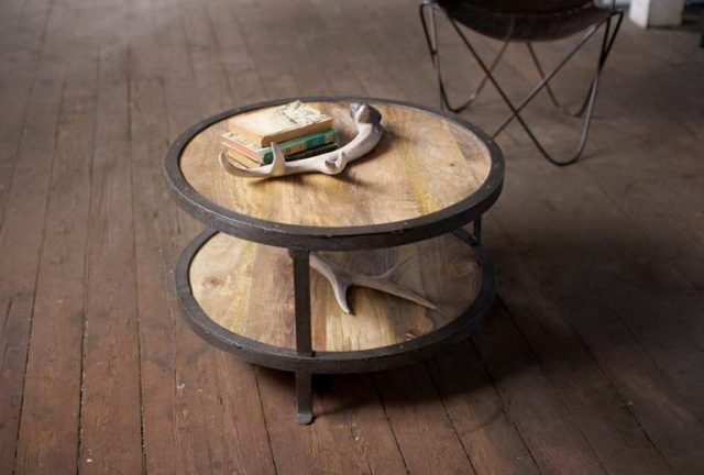 Remarkable Deluxe Small Circle Coffee Tables Throughout Rustic Round Coffee Table (Image 38 of 50)