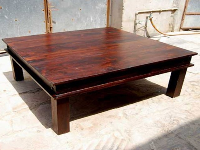 Remarkable Deluxe Square Wooden Coffee Tables Intended For Decor Of Square Wooden Coffee Table With Square Reclaimed Wood (Image 36 of 50)