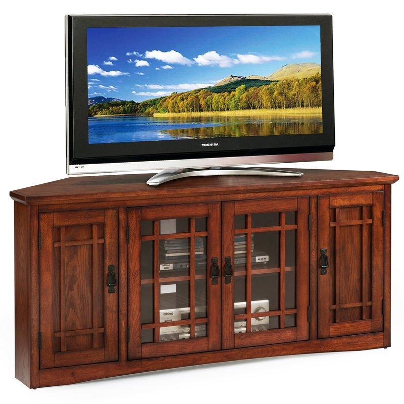 Remarkable Deluxe Wayfair Corner TV Stands Regarding Dar Home Co Philbrook 56 Tv Stand Reviews Wayfair (View 11 of 50)