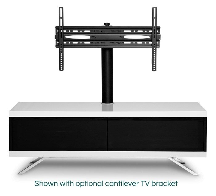 Remarkable Deluxe White Cantilever TV Stands In Mda Designs Tucana Hybrid White Tv Stand (View 35 of 50)