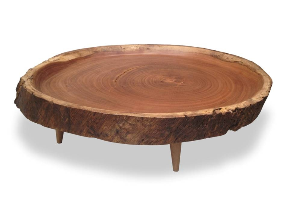 Remarkable Elite Circular Coffee Tables With Storage Inside Coffee Table Round Wood Coffee Tables Victoria Round Wood Slab (Image 37 of 50)