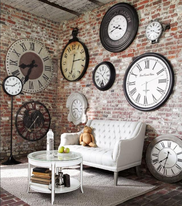 Remarkable Elite Clock Coffee Tables Round Shaped Intended For Furniture Rustic Modern Living Room With L Shaped Soft Brown (Image 41 of 50)