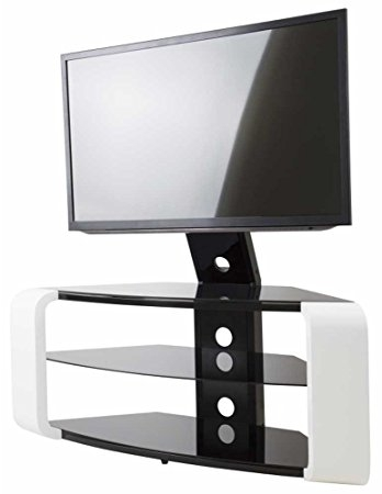 Remarkable Elite Como TV Stands Throughout Avf Como Gloss White Cantilever Tv Stand Amazoncouk Electronics (Image 36 of 50)