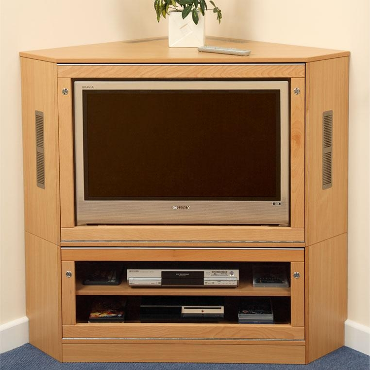 Remarkable Elite Corner Wooden TV Cabinets Throughout Good Corner Cabinet For Tv On Black Jamison Corner Tv Cabinet (View 11 of 50)