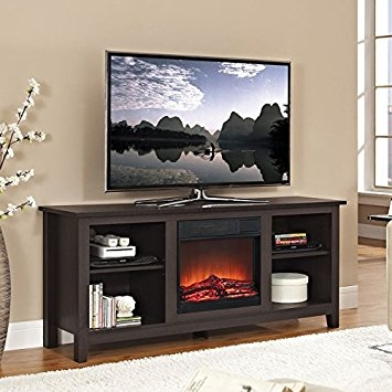 Remarkable Elite Expresso TV Stands Pertaining To Amazon Walker Edison W58fp18es Fireplace Tv Stand Espresso (View 17 of 50)