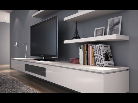 Remarkable Elite Floating Glass TV Stands Regarding Floating Tv Stand Diy Youtube (Image 37 of 50)