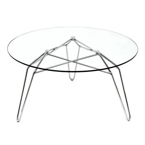 Remarkable Elite Glass And Metal Coffee Tables Intended For Round Glass Coffee Table Metal Base (Image 42 of 50)