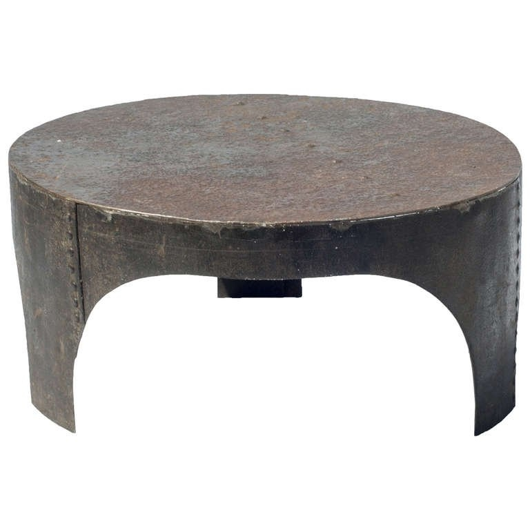 Remarkable Elite Industrial Style Coffee Tables Regarding Round Industrial Style Coffee Table At 1stdibs (View 34 of 50)