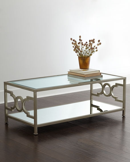 Remarkable Elite Mirrored Coffee Tables In Candice Olson Hendrix Mirrored Coffee Table (Photo 12 of 50)