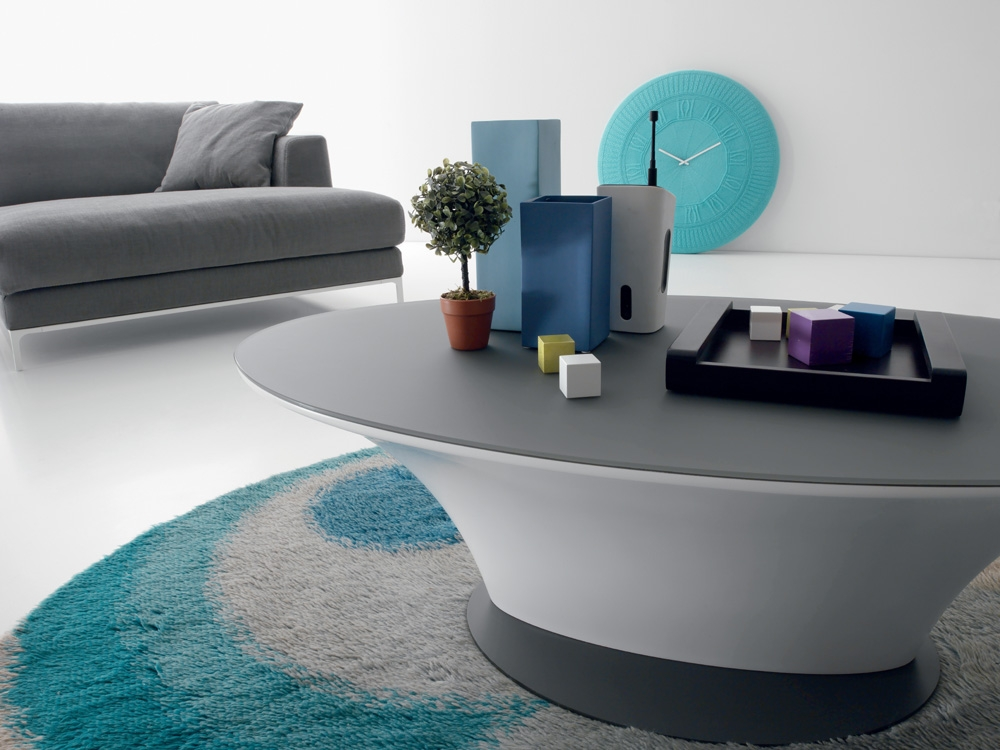 Remarkable Elite Oval Gloss Coffee Tables For Compar Modern Boat Coffee Table In Matte White Or High Gloss Grey (View 13 of 40)