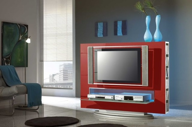 Remarkable Elite Red Modern TV Stands With Modern Tv Stand Media 85 Red 42900 Modern Living Room New (Image 37 of 50)