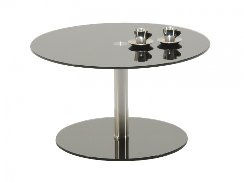 Remarkable Elite Round Chrome Coffee Tables For Coffee Table Polar Round Black Glass And Chrome Coffee Table (Image 37 of 50)