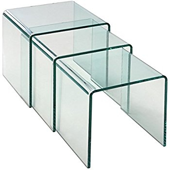 Remarkable Elite Stackable Coffee Tables In Amazon Homcom 3pc Acrylic Stackable Nesting End Side Tables (Image 36 of 50)