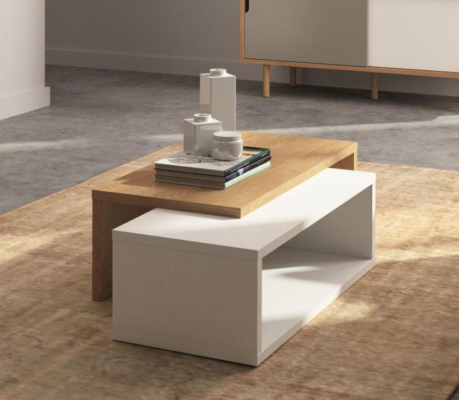 Remarkable Elite White And Oak Coffee Tables Intended For Modern Walmart Coffee Table Design (Image 38 of 50)