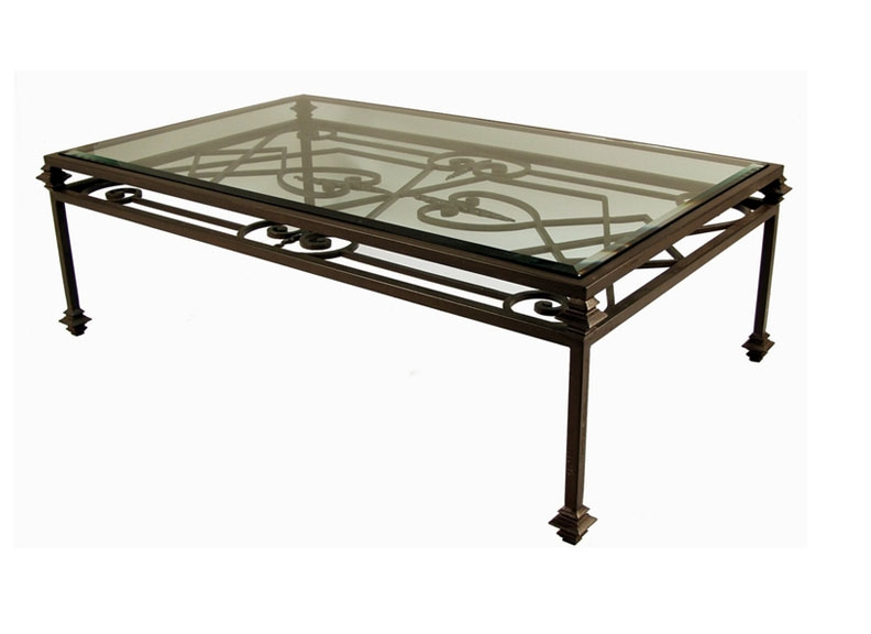 Remarkable Elite Wrought Iron Coffee Tables Regarding Wrought Iron Glass Coffee Table (Image 39 of 50)
