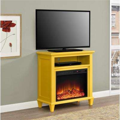 Remarkable Elite Yellow TV Stands Within Yellow Tv Stands Living Room Furniture The Home Depot (View 18 of 50)