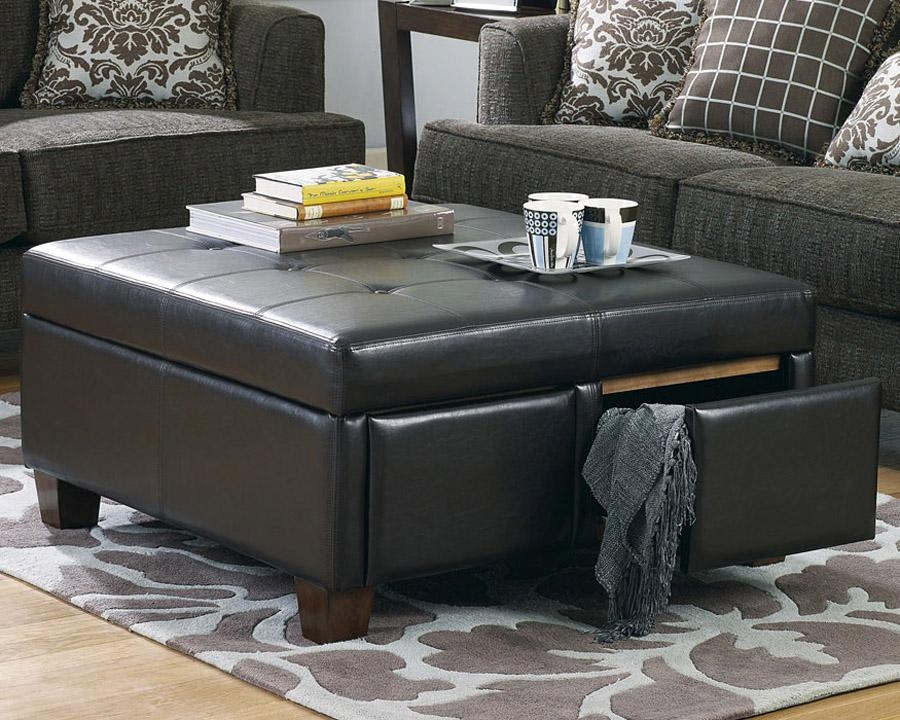 Remarkable Famous Black Coffee Tables With Storage Intended For Black Coffee Table With Storage (Image 36 of 40)