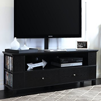 Remarkable Famous Black TV Cabinets With Doors Inside Amazon Walker Edison 58 Black Wood Storage Tv Cabinet With (Image 40 of 50)