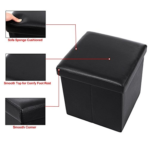 Remarkable Famous Coffee Table Footrests Inside Songmics Faux Leather Storage Ottoman Cube Footrest Coffee Table (Image 32 of 40)