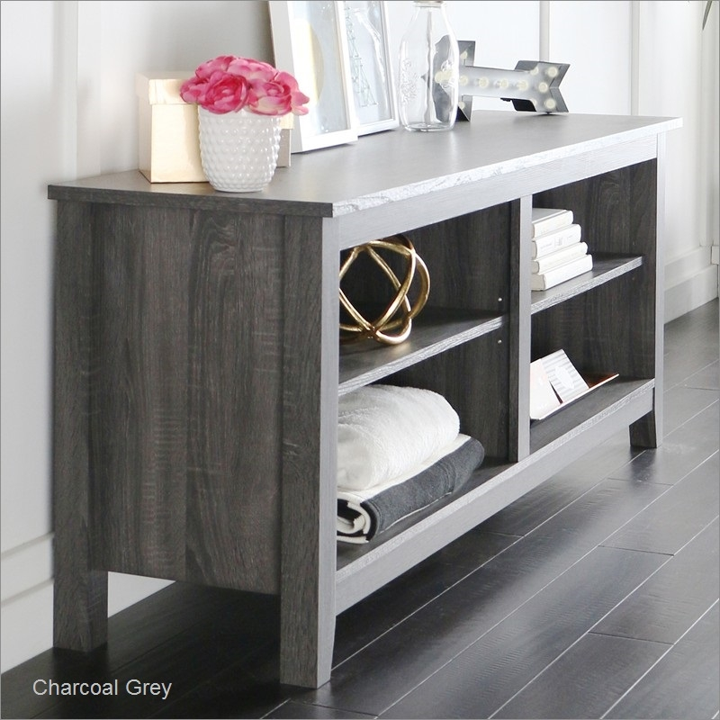 Remarkable Famous Grey Wood TV Stands Inside Wood Tv Stand Console Walker Edison Furniture Company W58csp (Image 42 of 50)