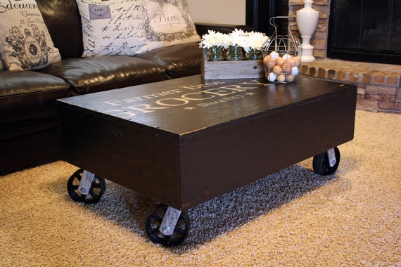 Remarkable Famous Industrial Style Coffee Tables Within Coffee Table Vintage Industrial Style (View 10 of 50)