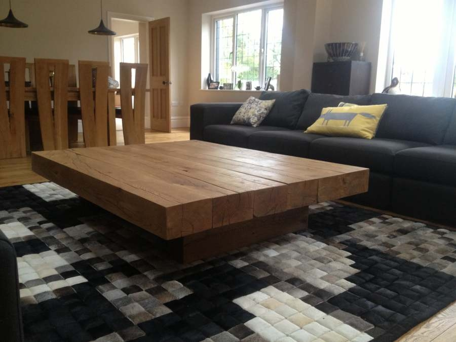 Remarkable Famous Large Low Wood Coffee Tables Throughout Square Wooden Coffee Table (View 38 of 50)