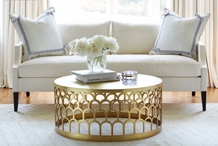 Remarkable Famous Marble Round Coffee Tables Within Living Room The Elegant Round Brass Coffee Table Frame Glass In (Image 39 of 50)