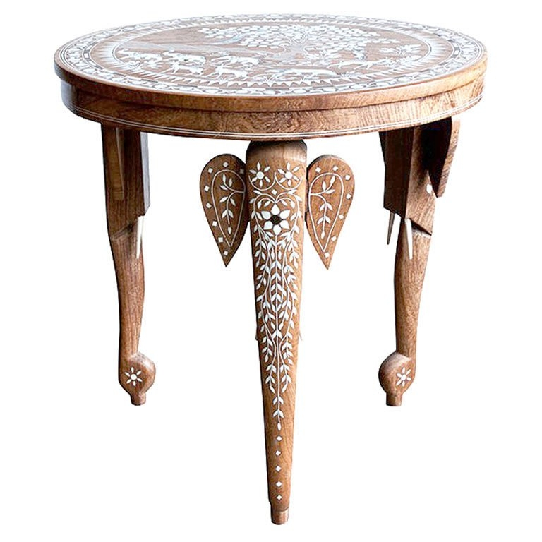 Remarkable Famous Mother Of Pearl Coffee Tables Intended For Side Table Inlaid With Mother Of Pearl Moroccan Style Round Table (View 34 of 50)