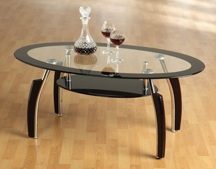 Remarkable Famous Oval Black Glass Coffee Tables In Coffee Table Not Into The Square Coffee Tables But Like The (Image 39 of 50)