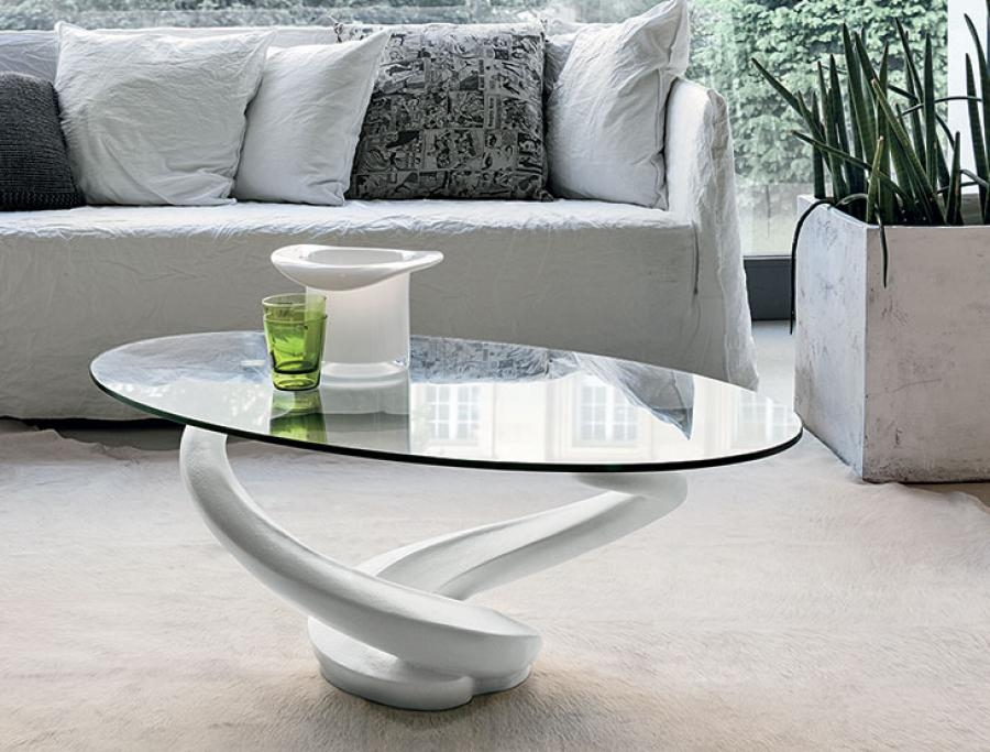 Remarkable Famous Oval White Coffee Tables For Unique Modern Glass Coffee Tables Table On Metal Base R Intended (Image 41 of 50)