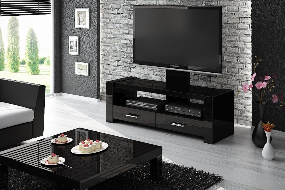 Remarkable Famous Shiny Black TV Stands Inside Tv Stands Astounding Tv Stand 75 Inch Design Ideas Tv Stand  (Image 40 of 50)