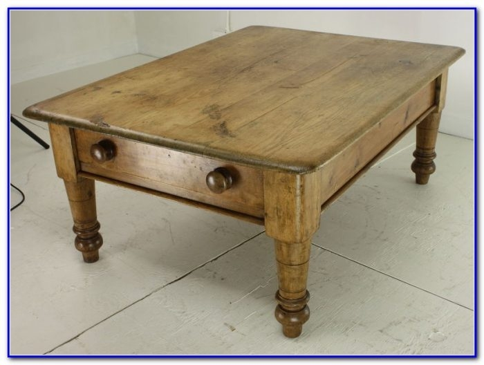 Remarkable Fashionable Antique Pine Coffee Tables Within Mexican Pine Coffee Table With Drawer Coffee Table Home (Image 33 of 50)