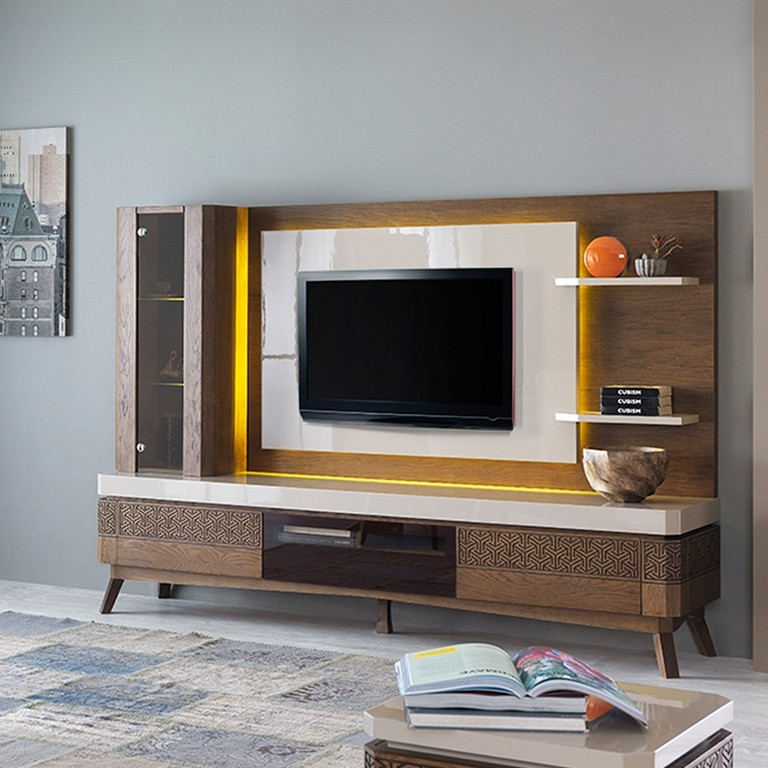 Remarkable Fashionable Dark Wood Corner TV Cabinets Within Dark Wood Corner Tv Stand (Image 41 of 50)