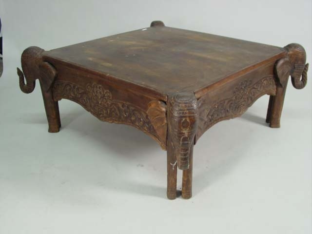 Remarkable Fashionable Elephant Coffee Tables Pertaining To Carved Elephant Coffee Table (Image 43 of 50)
