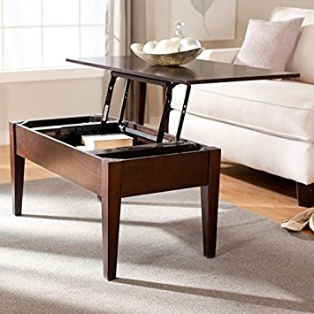 Remarkable Fashionable Elevating Coffee Tables Regarding Amazon Turner Lift Top Coffee Table Espresso Wsn04 C (Image 36 of 50)