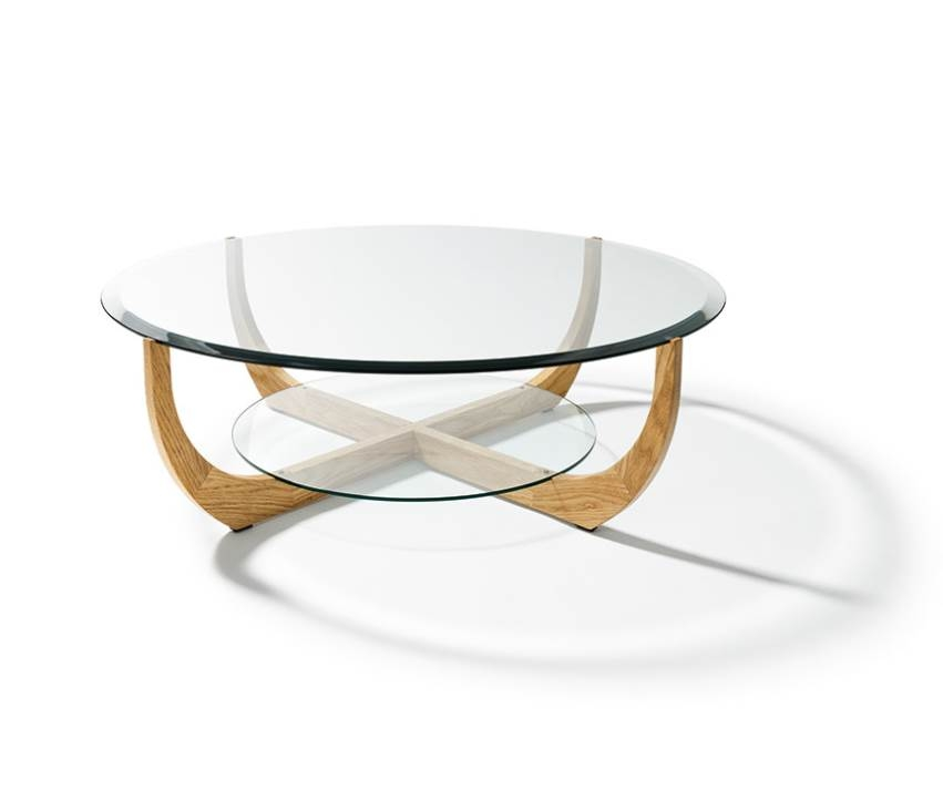 Remarkable Fashionable Glass Circular Coffee Tables For Glass Round Coffee Tables (Image 41 of 50)