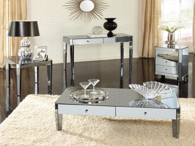 Remarkable Fashionable Mirrored Coffee Tables In Mirrored Coffee Table Set Fresh Ottoman Coffee Table For Round (Image 39 of 50)
