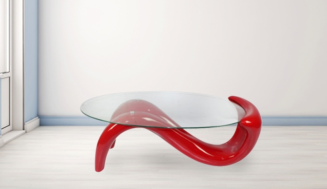 Remarkable Fashionable Red Gloss Coffee Tables For S Shape Wave Design Gloss Coffee Table Red 27 Off (Image 30 of 40)