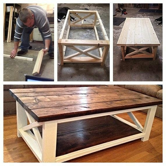 Remarkable Fashionable Rustic Wood DIY Coffee Tables For Best 25 Diy Coffee Table Ideas On Pinterest Coffee Table Plans (Image 39 of 50)
