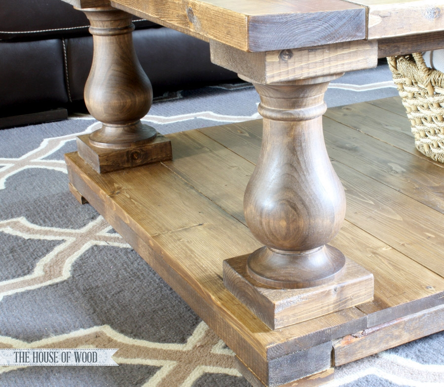Remarkable Fashionable Short Legs Coffee Tables With Regard To Ana White Balustrade Coffee Table Diy Projects (Image 43 of 50)