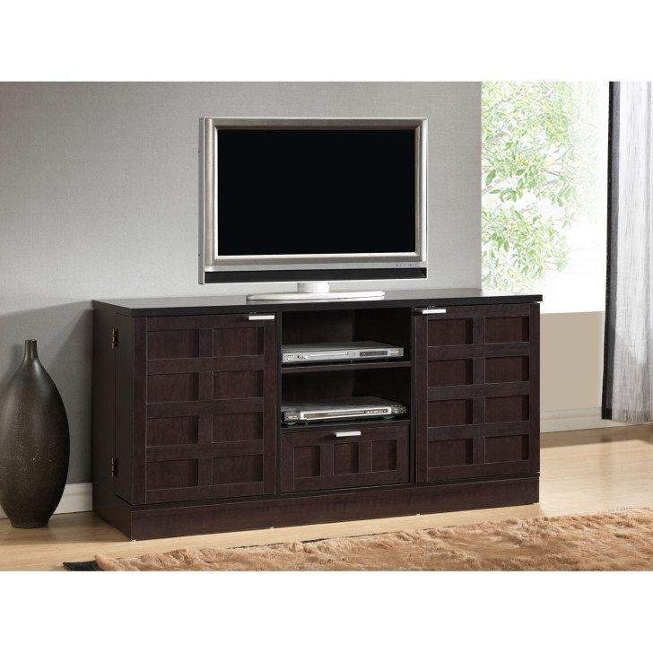 Remarkable Favorite Black TV Cabinets With Doors For Stained Brown Wooden Cabinet With Glass Doors And Shelves Combined (Image 41 of 50)