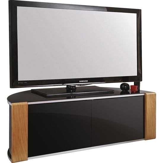 Remarkable Favorite Black TV Stands With Glass Doors With Regard To The 25 Best Black Corner Tv Stand Ideas On Pinterest Small (Image 33 of 50)