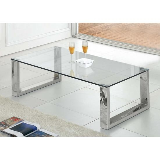 Remarkable Favorite Chrome Glass Coffee Tables Pertaining To Glass Coffee Table (Image 42 of 50)