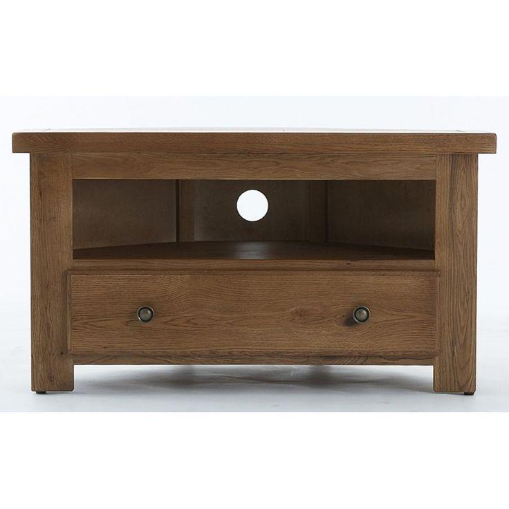 Remarkable Favorite Dark Oak Corner TV Cabinets Throughout Emporium Home Bretagne Rustic Oak Corner Tv Unit Now Available At (Image 37 of 50)