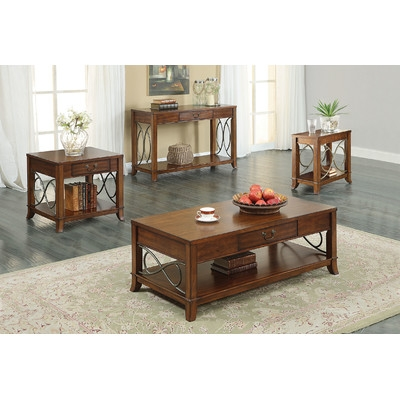 Remarkable Favorite Elena Coffee Tables Regarding Aj Homes Studio Elena Coffee Table Set Reviews Wayfair (View 10 of 40)