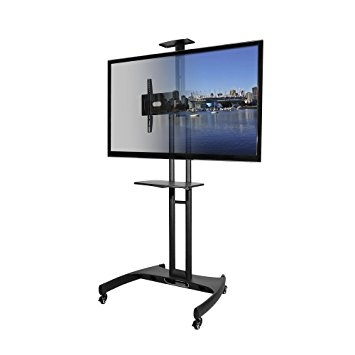 Remarkable Favorite Emerson TV Stands In Amazon Kanto Mtm65pl Mobile Tv Stand With Mount For 37 To  (Image 35 of 50)